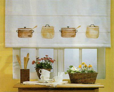 Decoraci n de interiores decora la ventana de la cocina for Cortinas de cocina rusticas