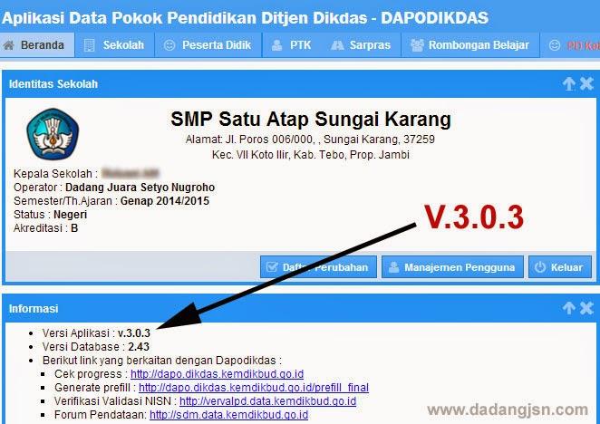 INSTALL PATCH APLIKASI DAPODIKDAS V.3.0.3 – PEMBELAJARAN KURIKULUM ...