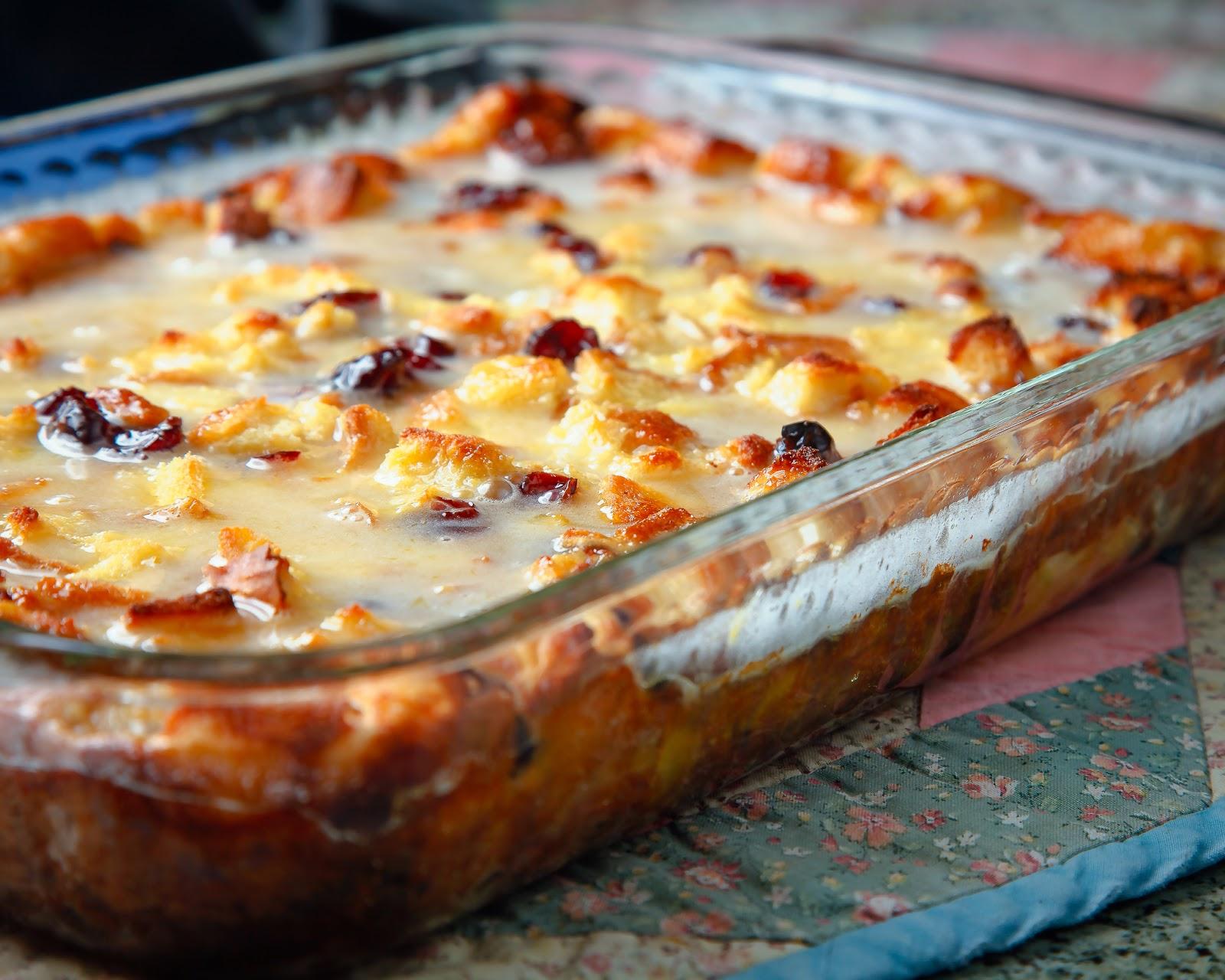 Amaretto Custard Bread Pudding