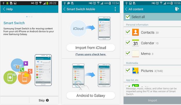 Trasferire dati contatti e sms da un cellulare a un altro - Rubrica android colori diversi ...