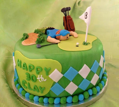 This Golfer Themed Birthday Cake Was Made For A Guys Surprise 30th Party Thrown Him By His Girlfriend She Pretty Much Gave Me The Theme Of