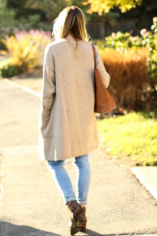 long cardigan fall outfit