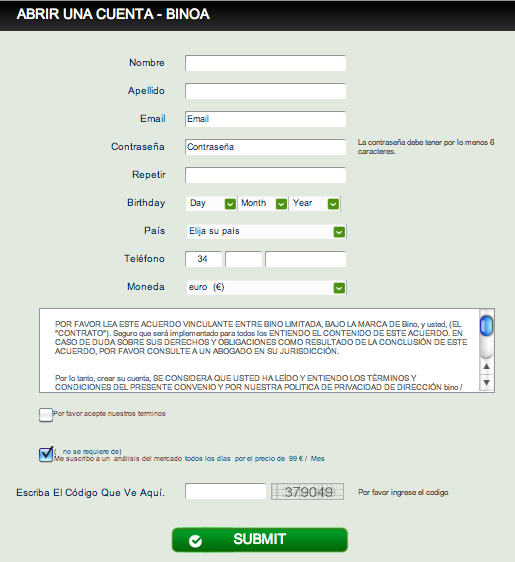 invertir+en+opciones+binarias+gratis+sin+deposito 50 Euros sin deposito para invertir en bolsa o forex gratis sin riesgo