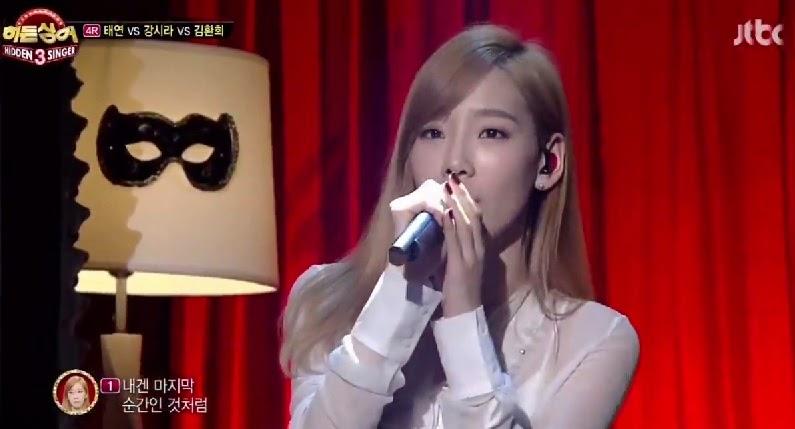 Taeyeon performs on Hidden Singer