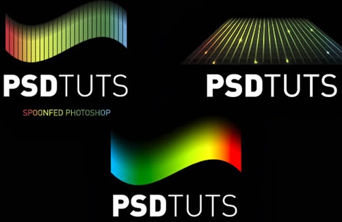 Rainbow Logos with Warped Grids