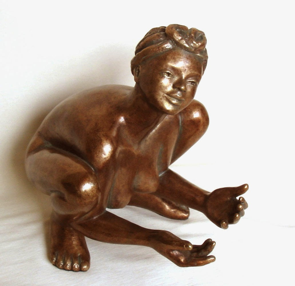 Sculpture bronze d'Adèle Vergé, style figuratif
