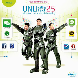 Smart Prepaid Unli Call and Text 25 (Unli 25) now comes with FREE chat