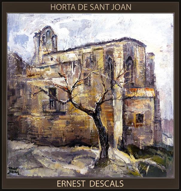 HORTA DE SANT JOAN-PINTURA-TARRAGONA-TERRA ALTA-ESGLESIA-CATALUNYA-PAISATGES-ARTISTA-PINTOR-ERNEST DESCALS-