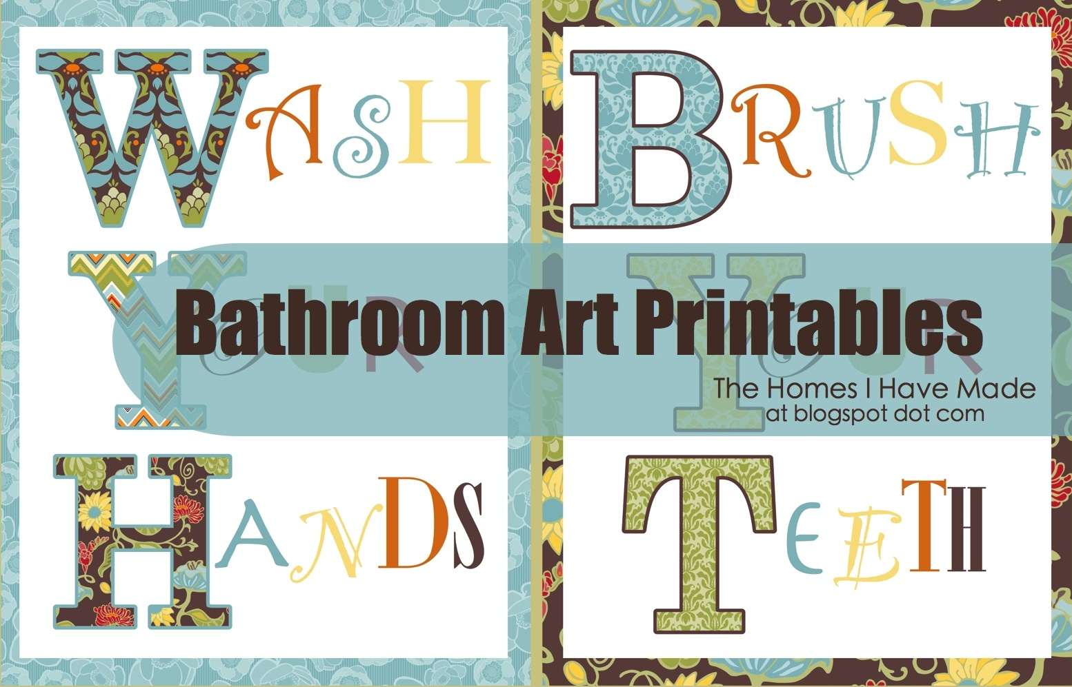 bathroom wall art printables | the homes i have made