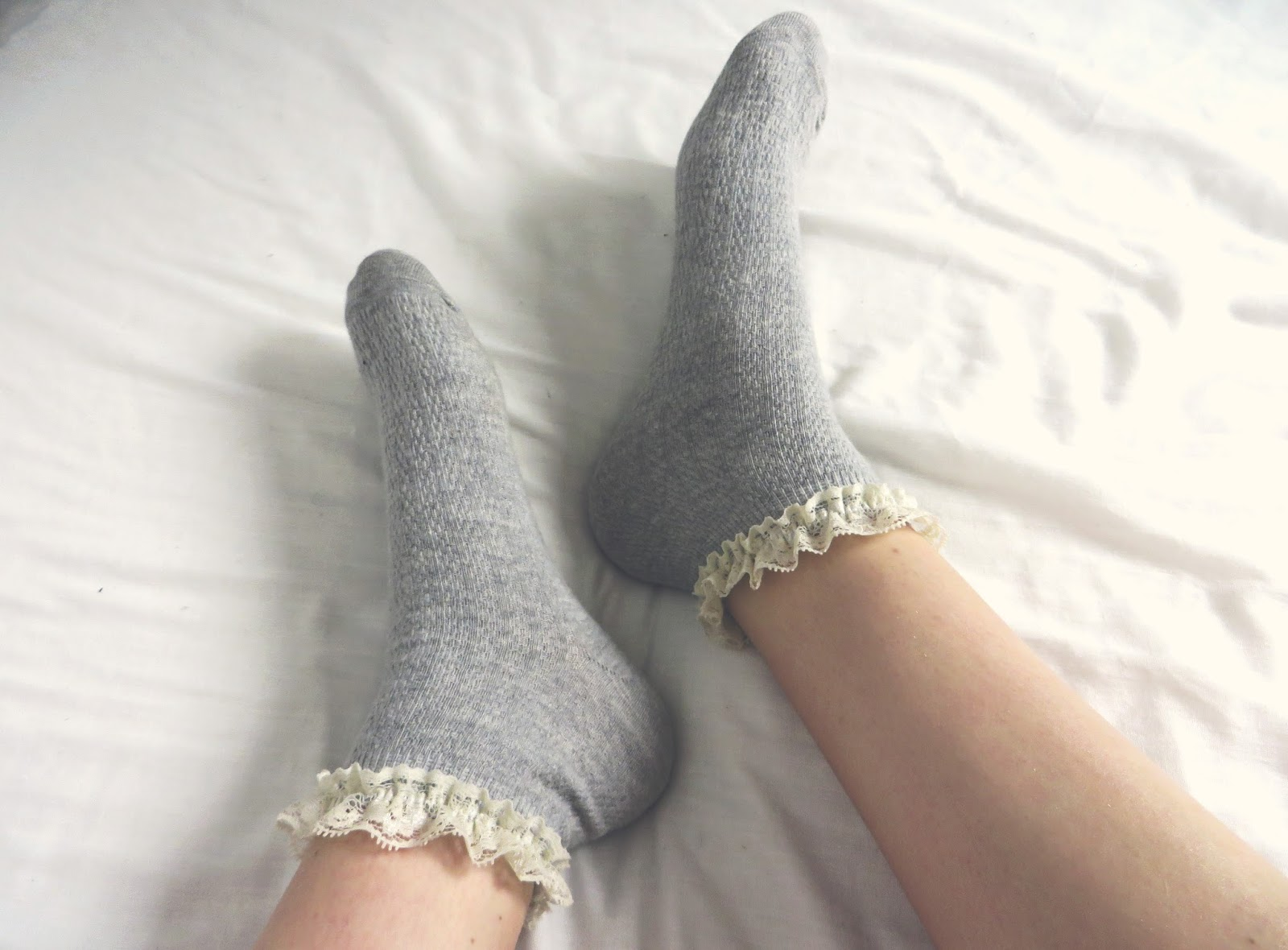 cute frilly socks
