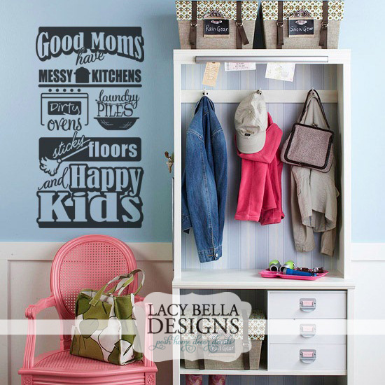 "Messy Kitchen Design: Lacy Bella Designs: ""Good Moms Have Messy Kitchens Dirty"