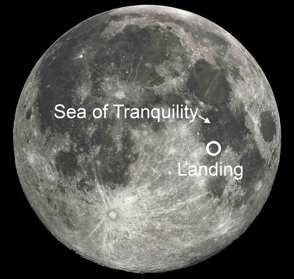 Sea of Tranquility on Moon where the Eagle had landed