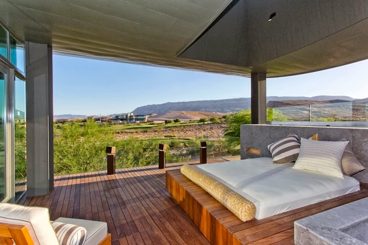 Terrace view from Multimillion modern dream home in Las Vegas