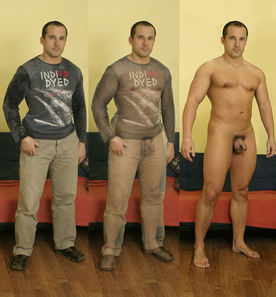 clothed and naked men Amateur