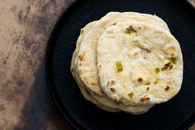 Hatch chile flour toritllas