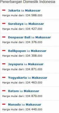 Penerbangan Domistik Murah ke Makassar