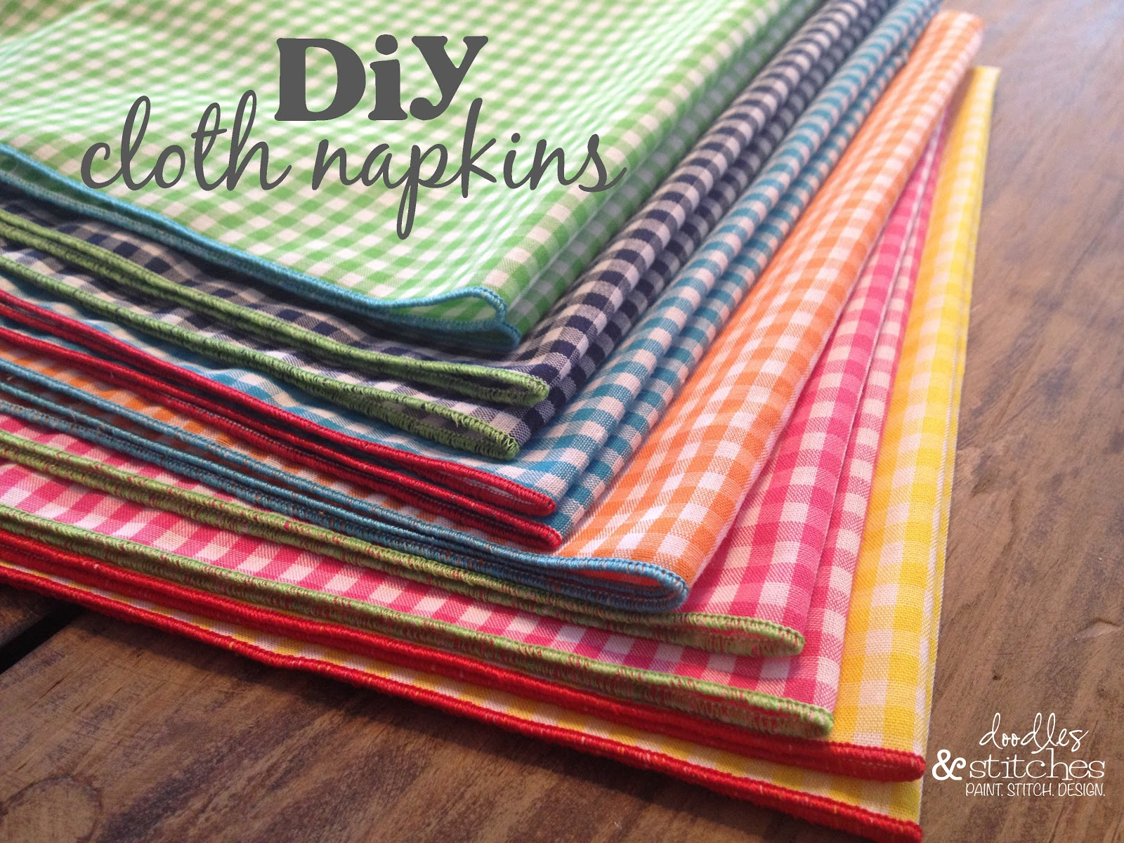 diy cloth napkins tutorial