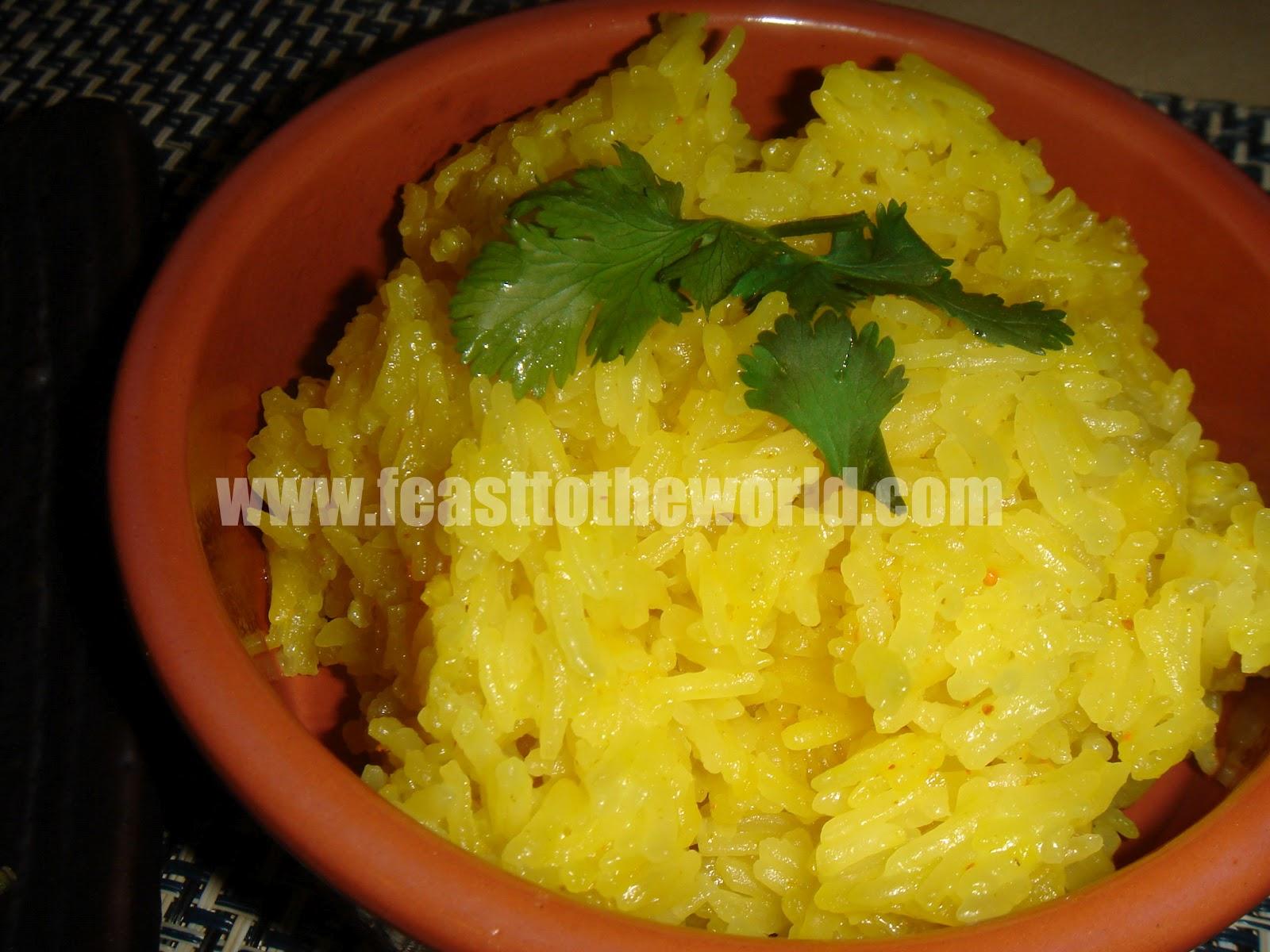 Celebration In True Nyonya's Style  Nasi Kunyit (yellow Glutinous Rice  Cooked In Turmeric And Coconut Milk)