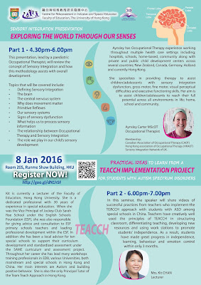 Seminar on Sensory Integration and TEACCH Implementation Project Sharing