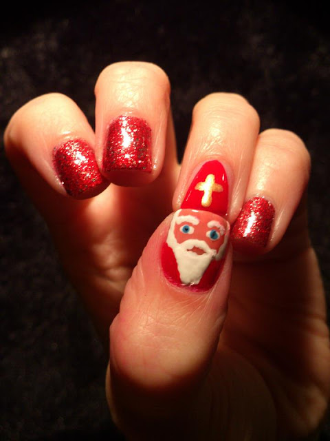 Santa Clause nail art