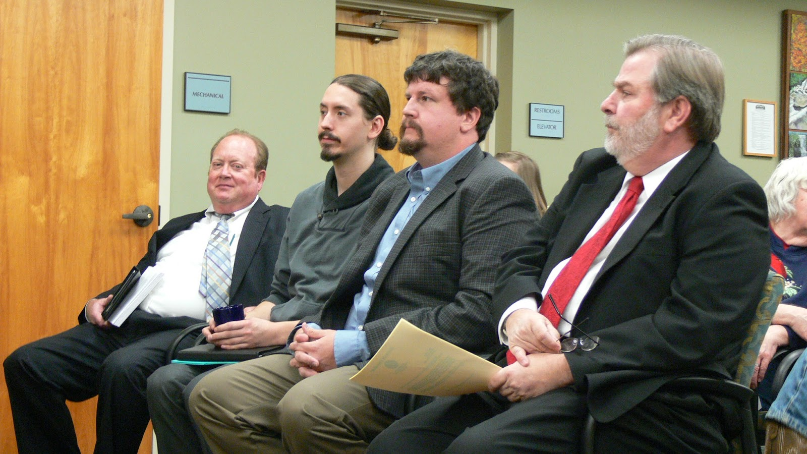 New Aldermen wait to be sworn into office