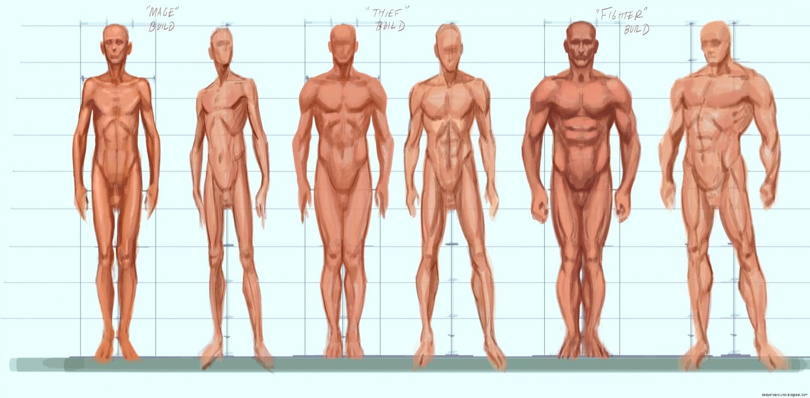 Body Types Male  Video Games Artwork