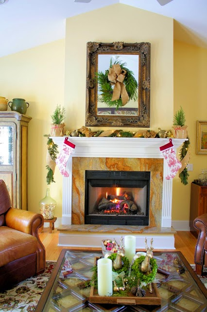 Christmas Mantel-The Comforts of Home-Christmas Edition- How I Found my Style Sundays- From My Front Porch To Yours