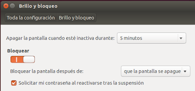 Brillo y bloqueo