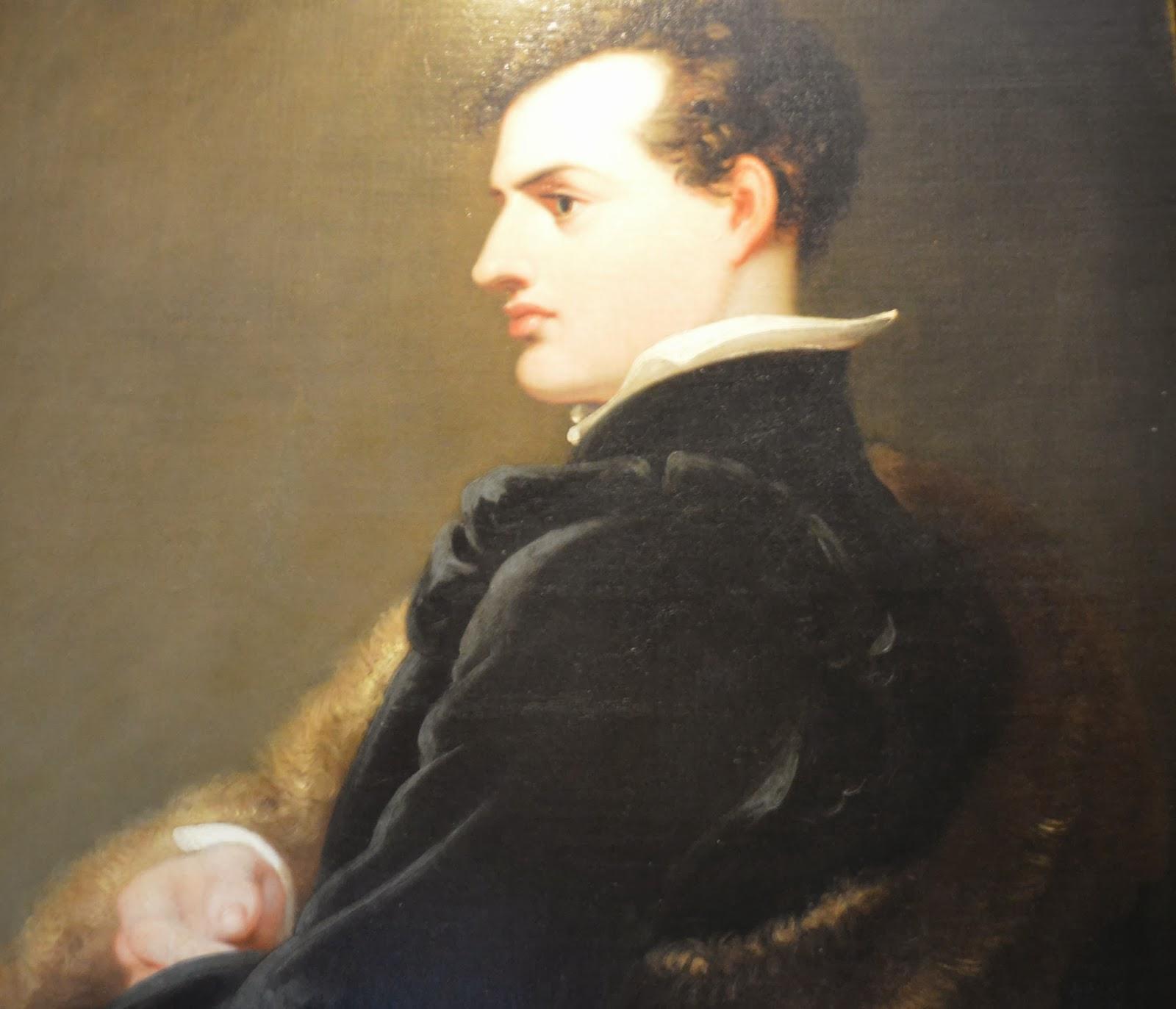 poet, Hughenden Manor, interior, National Trust, 18th century, Victorian, library, visit, Uk, Buckinghamshire, photo, photography, inside, Benjamin  Disraeli, prime minister, Lord Byron, portrait