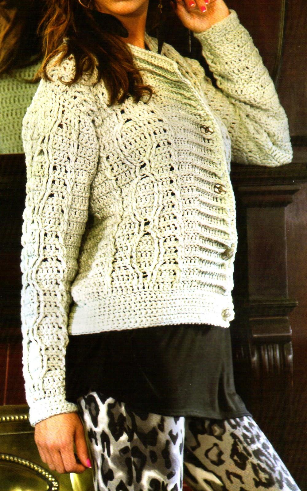 tejidos artesanales en crochet: saquito basico tejido en crochet ...