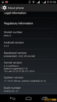 Moto G after update