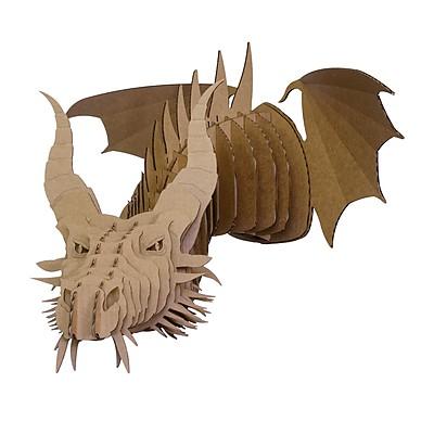 Cabeza de Dragón de Cartón