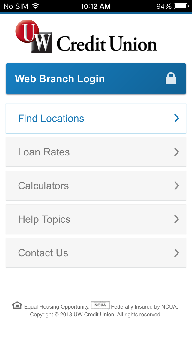 Source Code -- The Web Branch Blog -- UW Credit Union: Mobile App ...