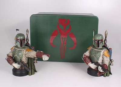 San Diego Comic-Con 2013 Exclusive Boba Fett Deluxe Mini Bust and Packaging by Gentle Giant