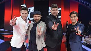 Adelanto Gala Final La Voz 2015 Antonio José, Joaquín, Marcos y Maverick