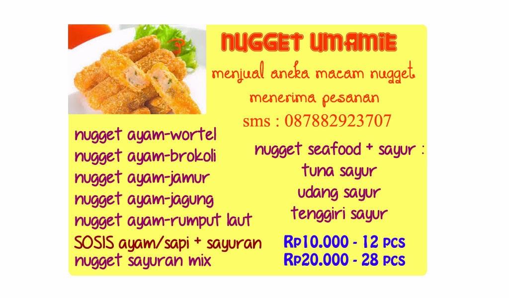 Jual Nugget dan Sosis Sayur
