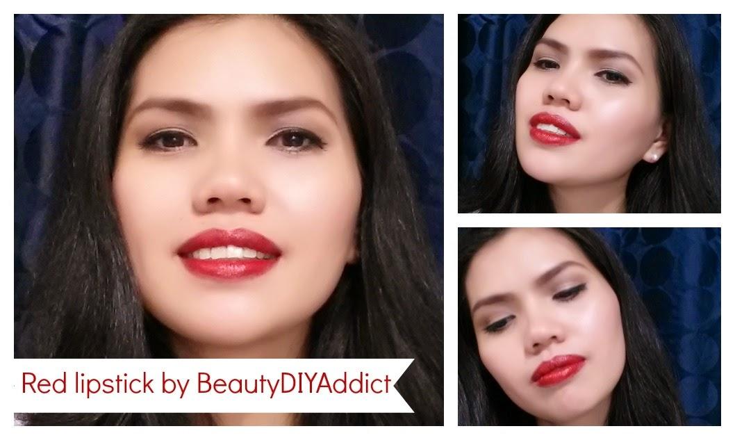 Everyday Makeup Red lipstick beautydiyaddict