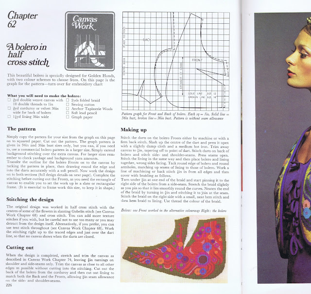 An issue from 1972 showing an embroidered waistcoat designed by Joan Nicholson
