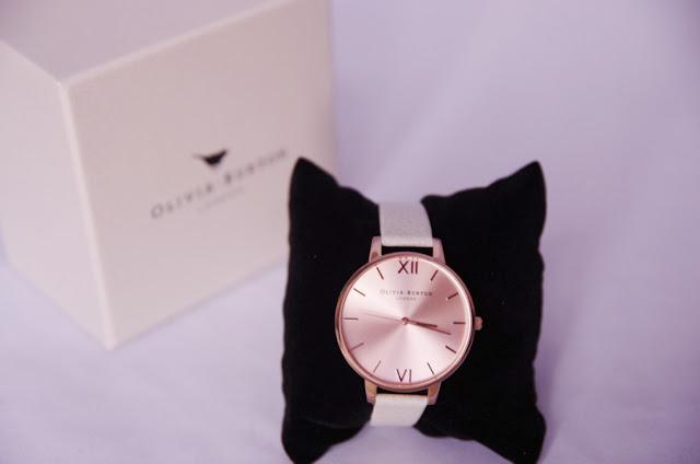 Olivia Burton Big Dial Mink and Rose Gold Watch