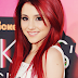 Ariana Grande Red Dye Hair With Shoulder Length Sleek Straight hairstyle