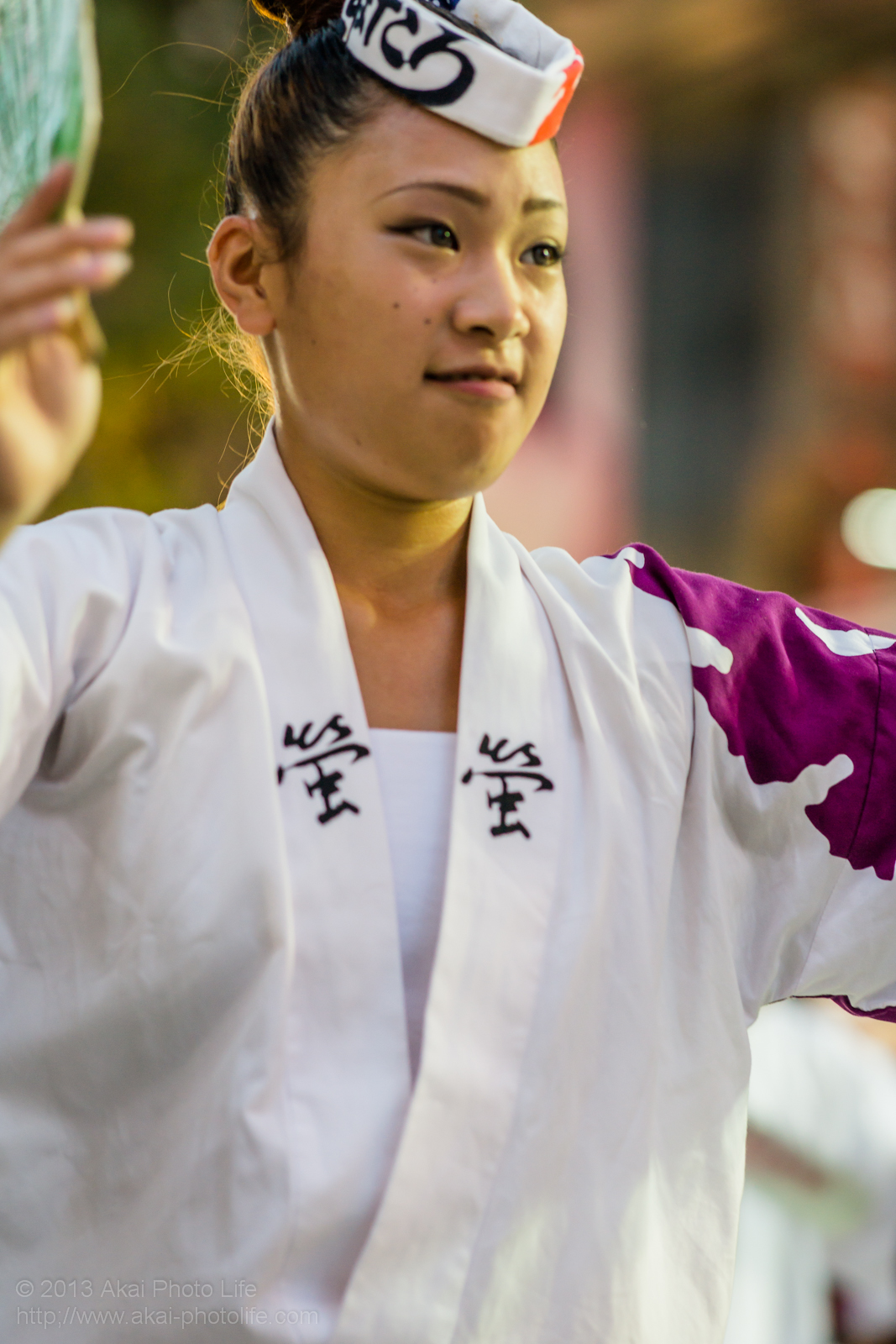 三鷹阿波踊り、江戸の阿波 螢の女性の男踊り うちわ