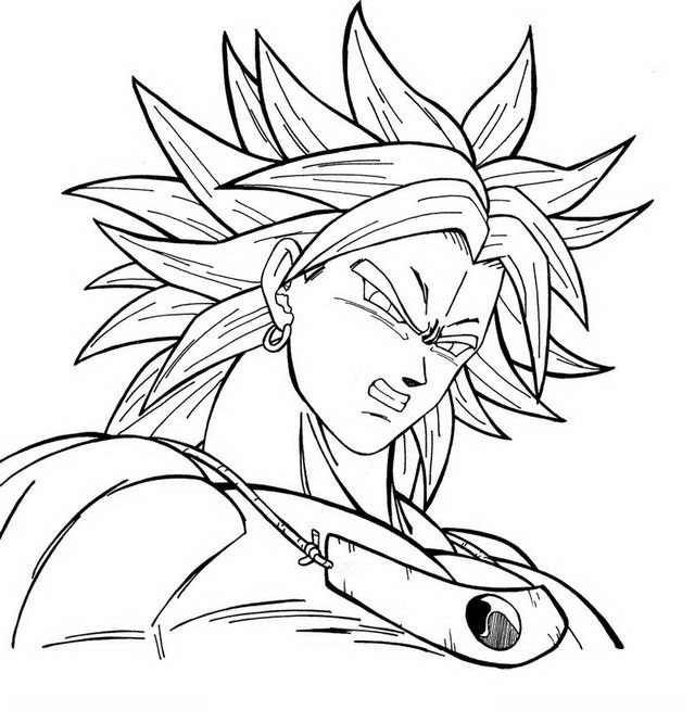 broly coloring pages - photo#22