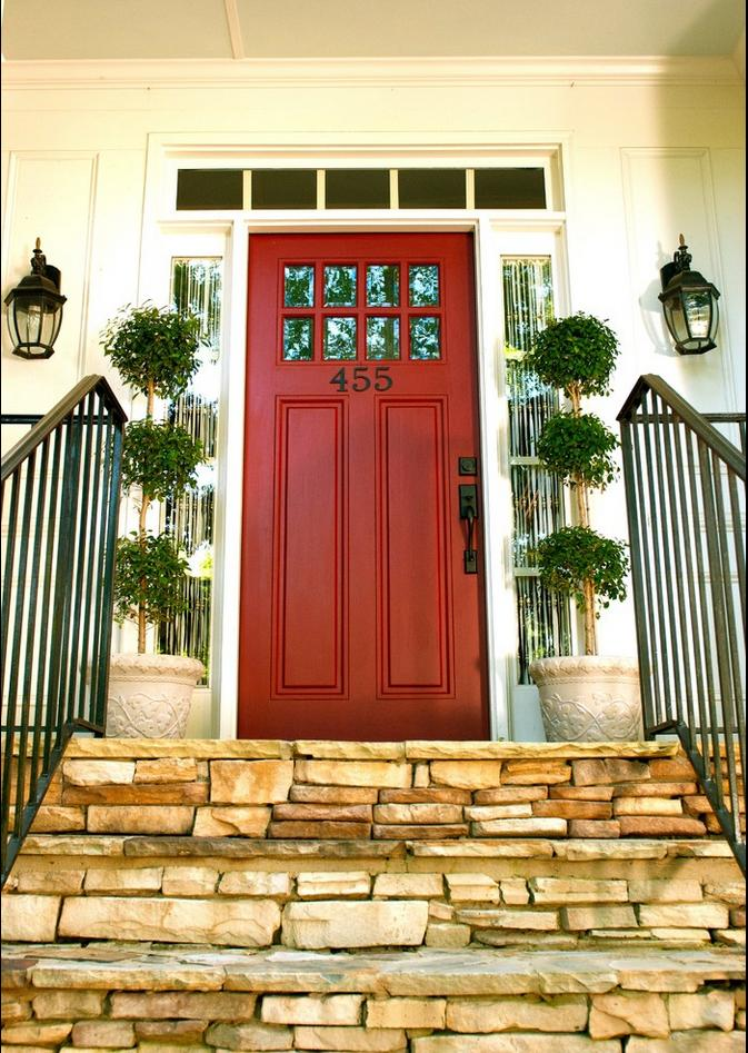 Delorme designs favourite reds red door for Front door entrance designs for houses