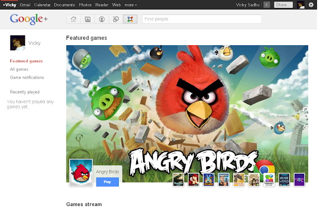 Games on Google+