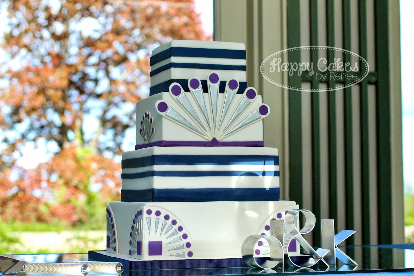 Happy cakes bakes great gatsby art deco themed wedding cake