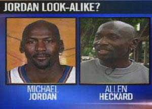 "Michael Jordan dituntut oleh ""kembarannya""."