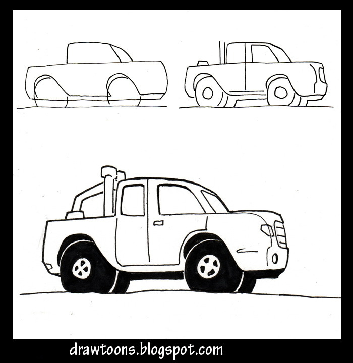 drawings cars trucks pictures