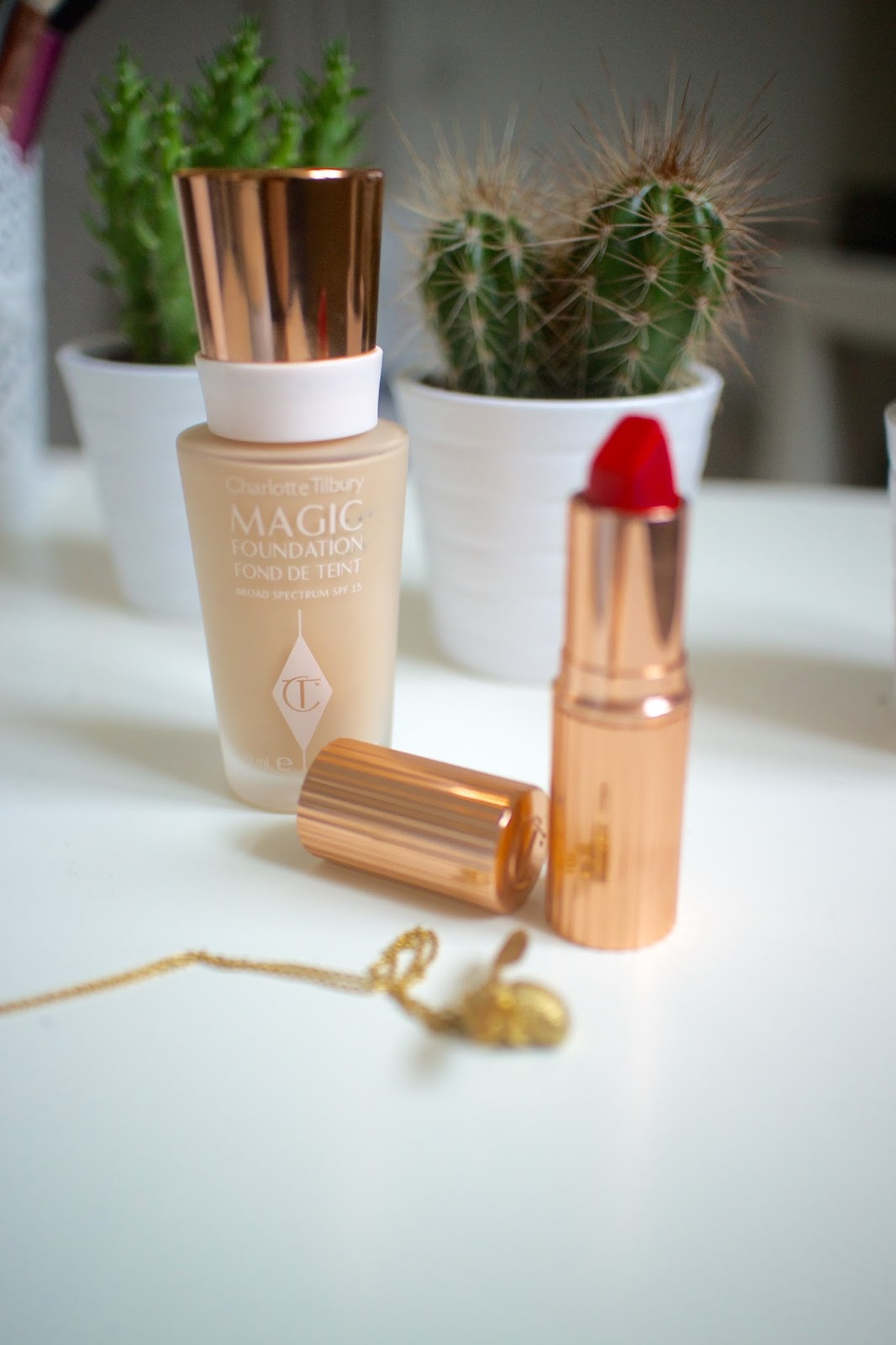 She's So Lucy Charlotte Tilbury Magic Foundation Review Oily Blemish Acne