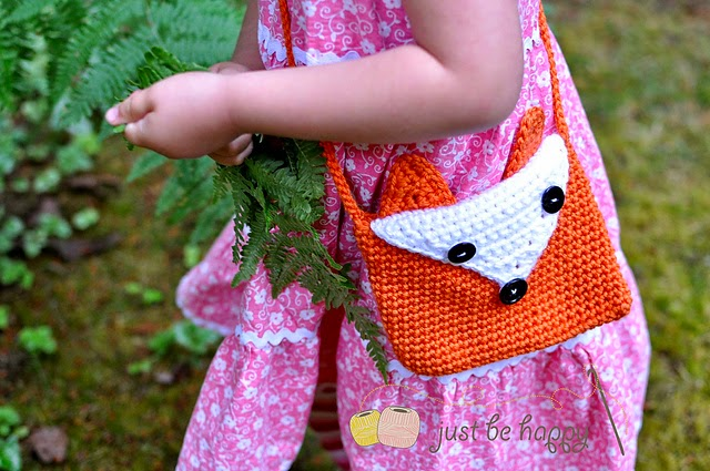 free crochet pattern fox mini purse