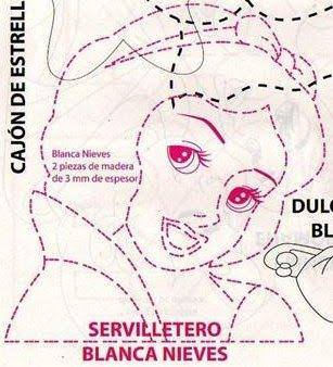 Moldes de: *♥* Blanca Nieves , *♥* Decoracion de Mesa ...